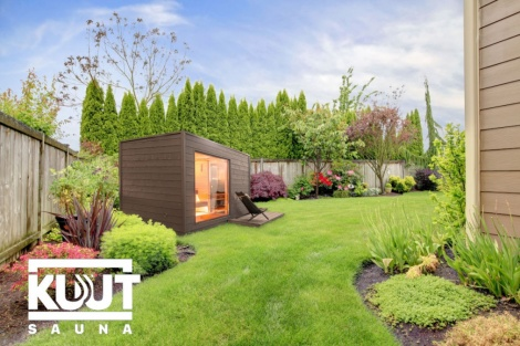 Koottu sauna + sähkökiuas KUUT Sauna L EL Premium | 2.2 x 3.2 m
